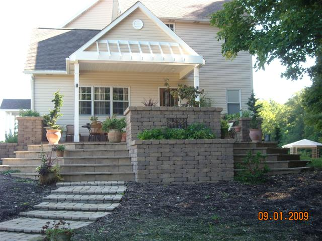 Stone Patio and Stairs